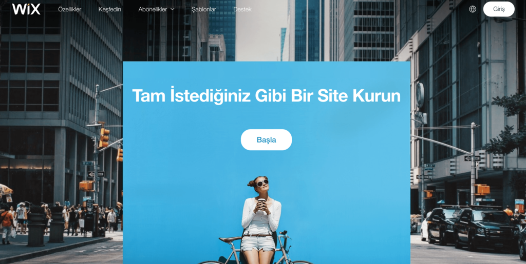 Wix web sitesi.