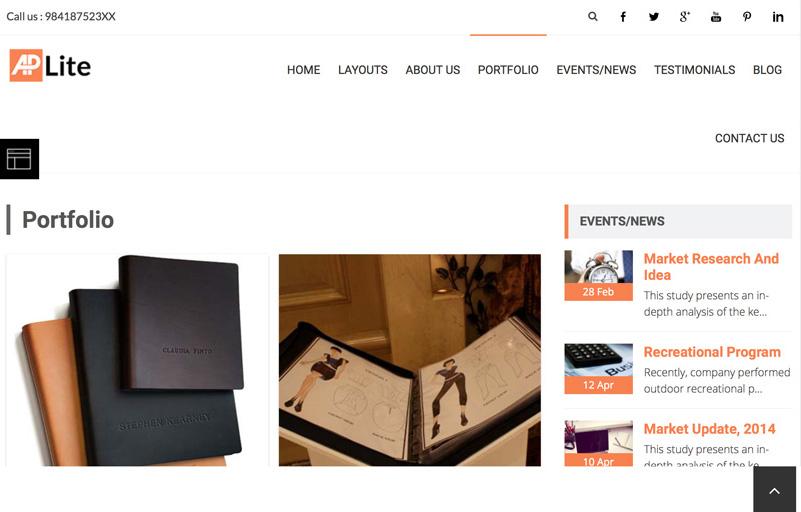 AccessPress Lite Portföy Sayfası