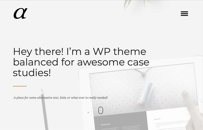 Alpha Premium WordPress Teması