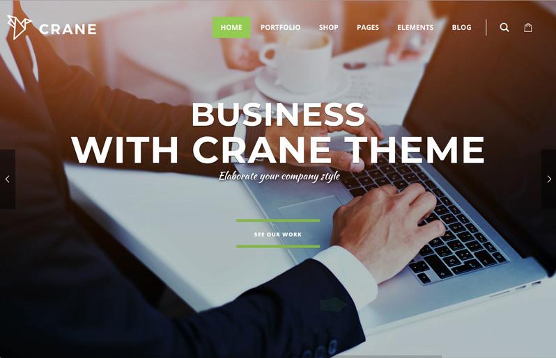 Crane Premium WordPress Portföy Teması