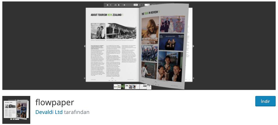 Flowpaper WordPress Eklentisi