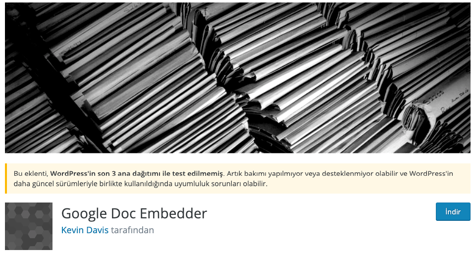 Google Doc Embedder WordPress Eklentisi