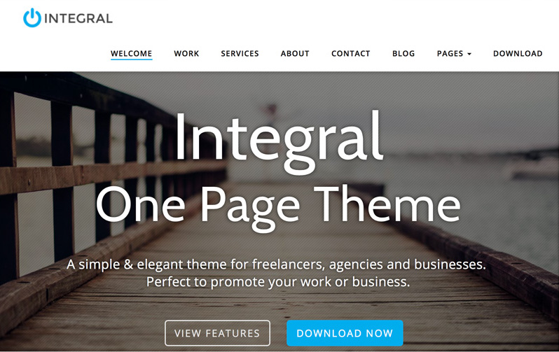 Integral WordPress portföy teması