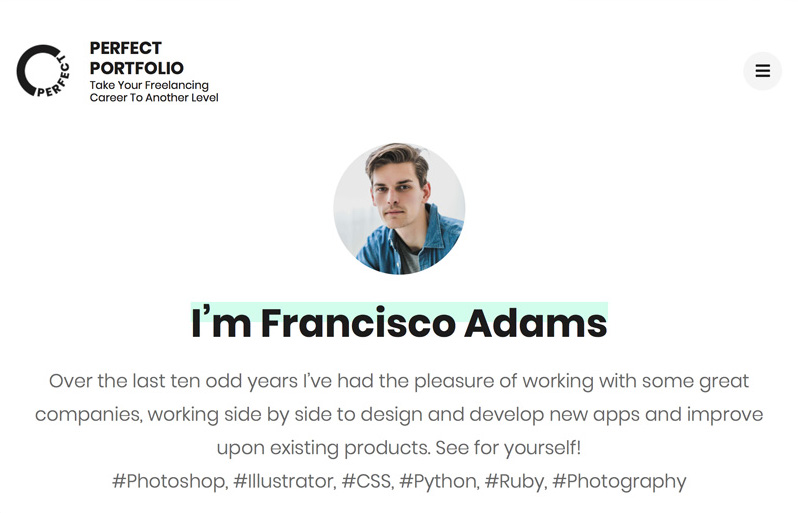 Perfect Portfolio Ana Sayfası