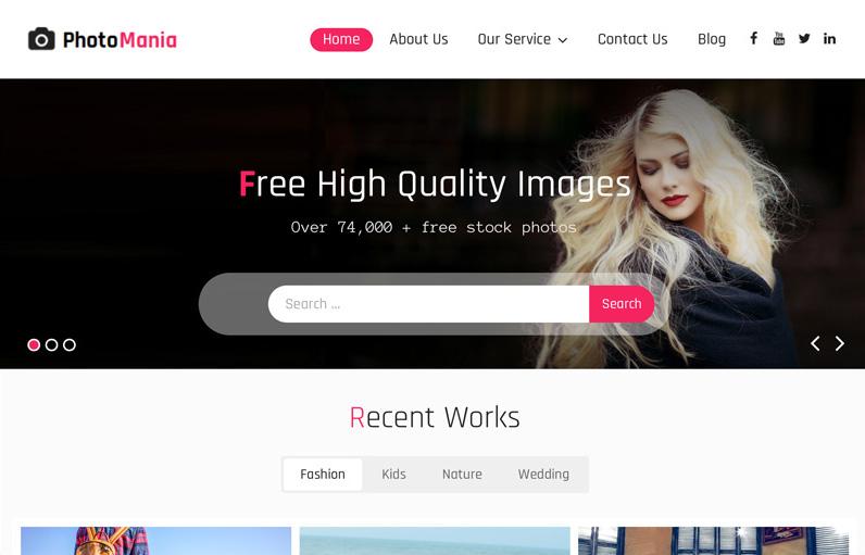 Photomania WordPress teması