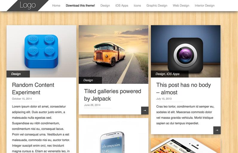 Pinbin WordPress portföy teması