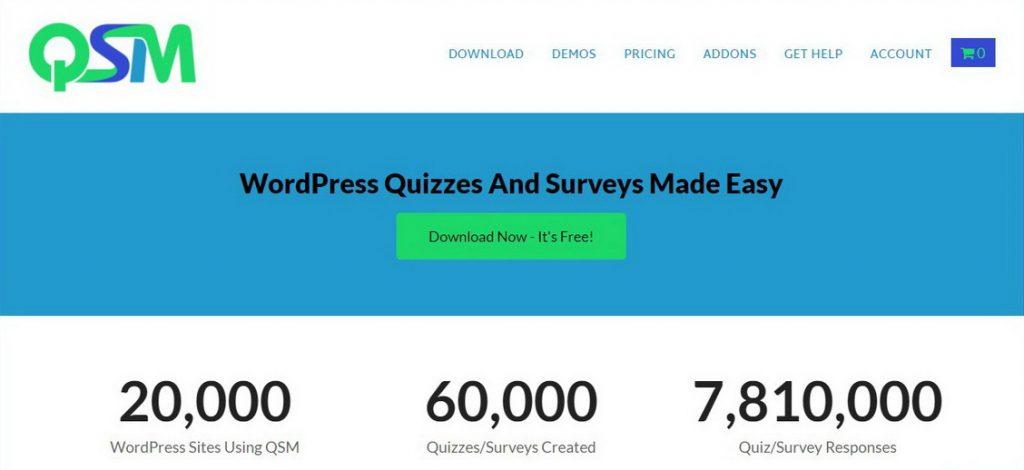 Quiz and Survey Master WordPress Quiz Eklentisi