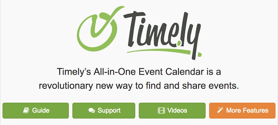 All-in-One Event Calendar eklentisi