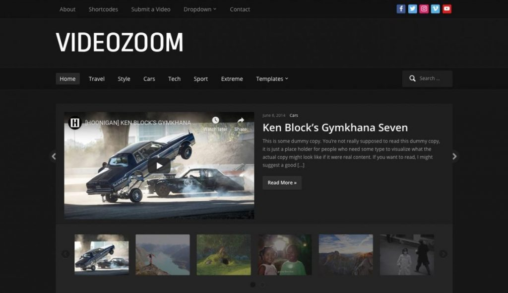 VideoZoom WordPress Video Teması
