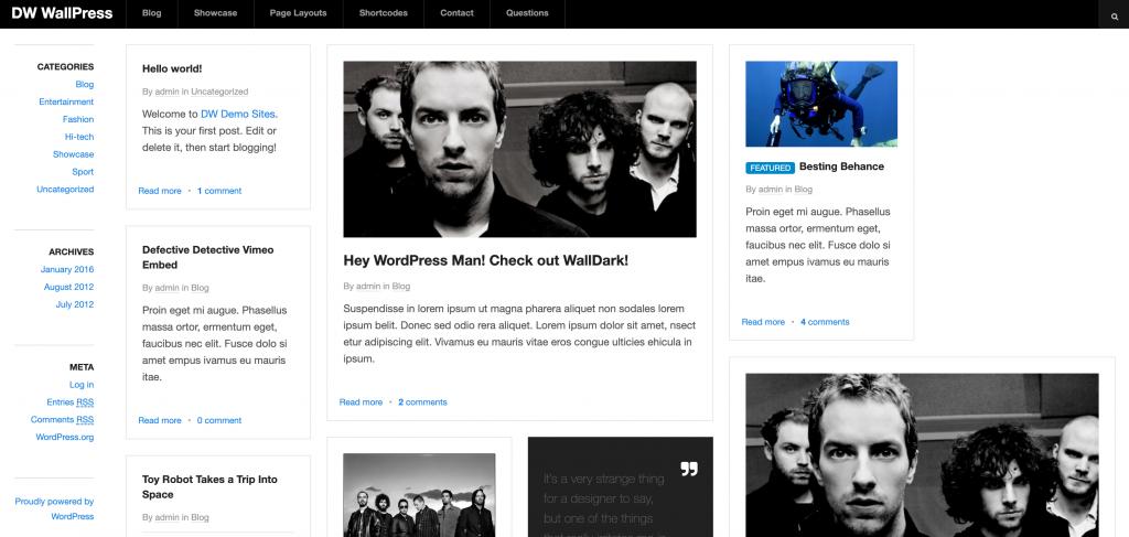 WallPress WordPress portföy teması.