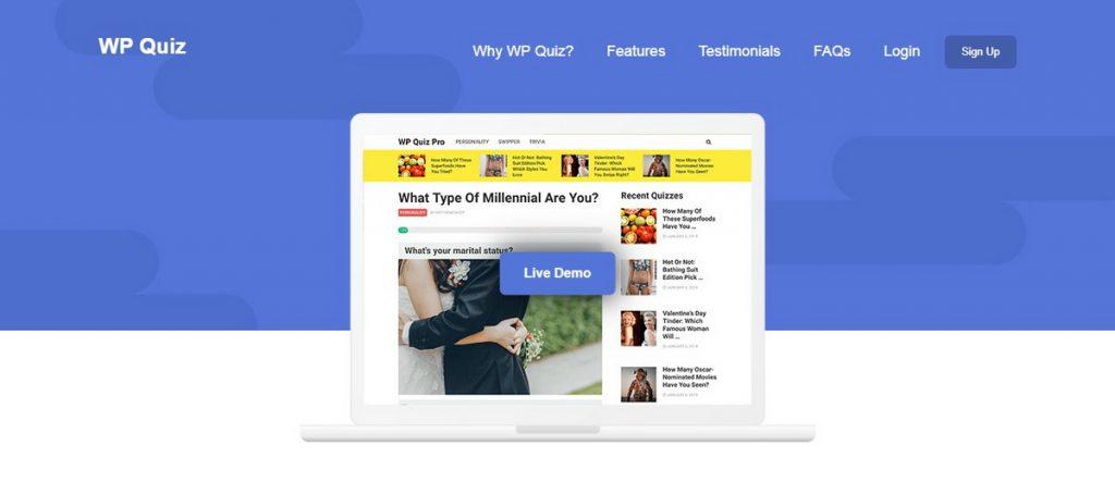 WP Quiz WordPress Quiz Eklentisi