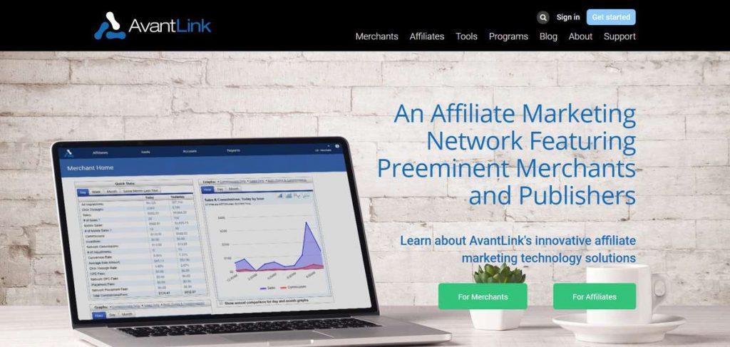 AvantLink satış ortaklığı sitesi üye olma sayfası