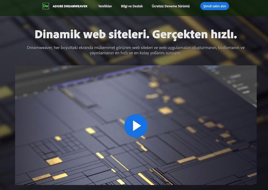 Adobe Dreamweaver CC Ana Sayfası