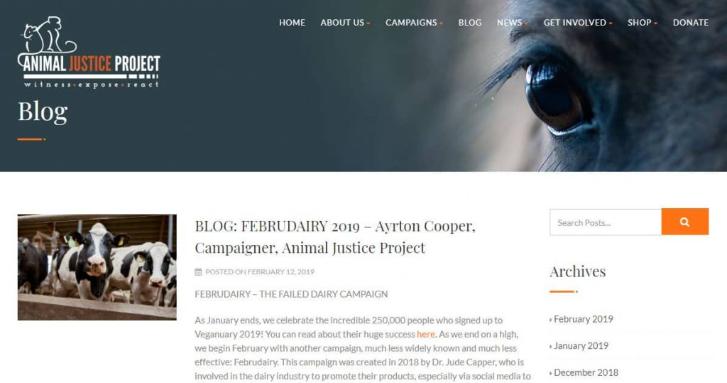 Justice Project Animal Blogu Ana Sayfası