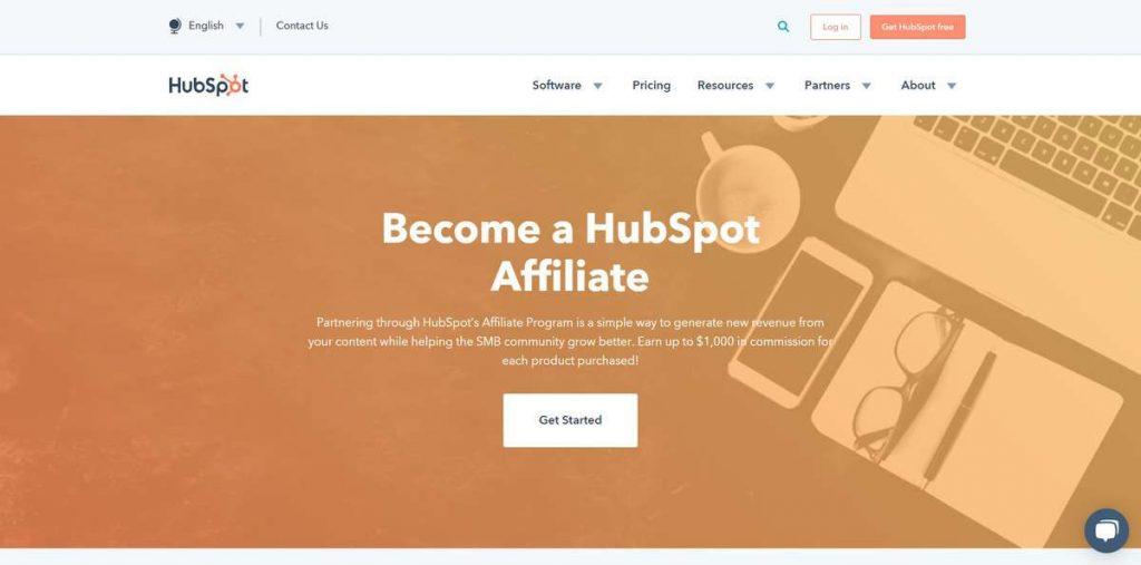 HubSpot ortaklık iniş sayfası örneği