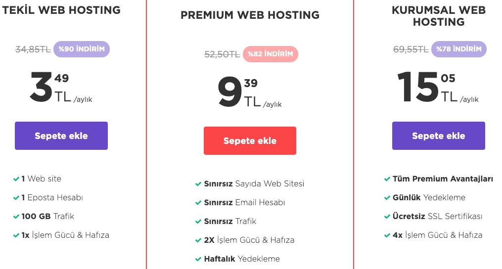 Hostinger Web Hosting Fiyatları