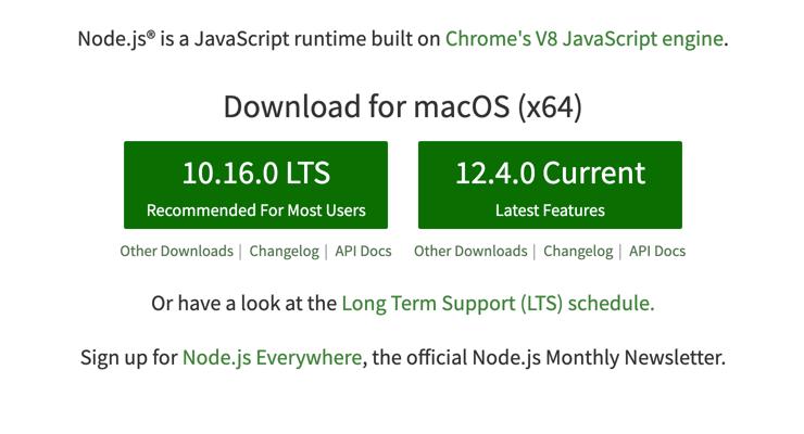 npm nedir: node.js sitesinden indirme