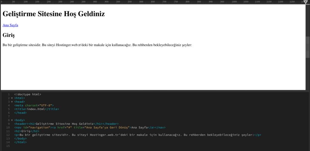 Web siteye navigation tuşu ekleme