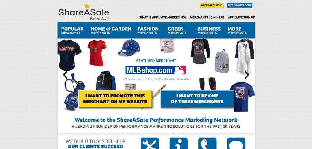 ShareASale satış ortaklığı sitesi iniş sayfası