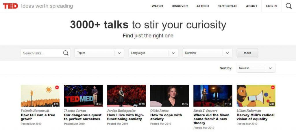 TED Talks Ana Sayfası