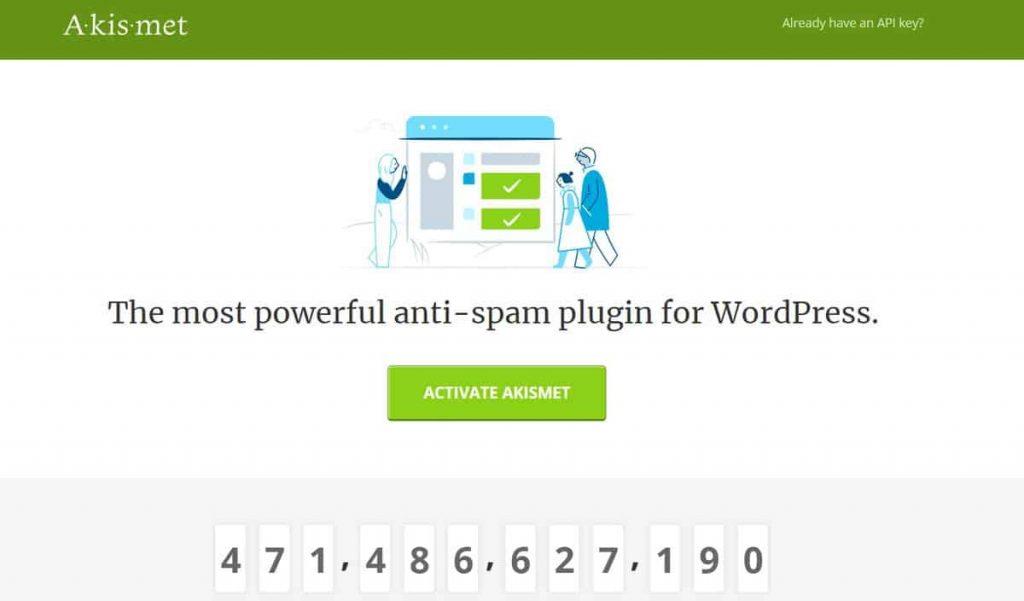 Akismet WordPress yorum eklentisi