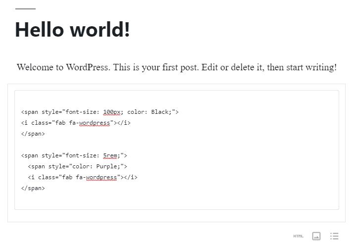 İkon boyutu ve rengini özelleştirmek için HTML parçacık örneği