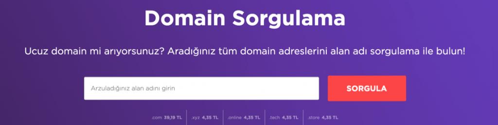 Hostinger domain sorgulama iniş sayfası