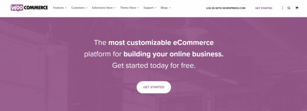 WooCommerce ana sayfası
