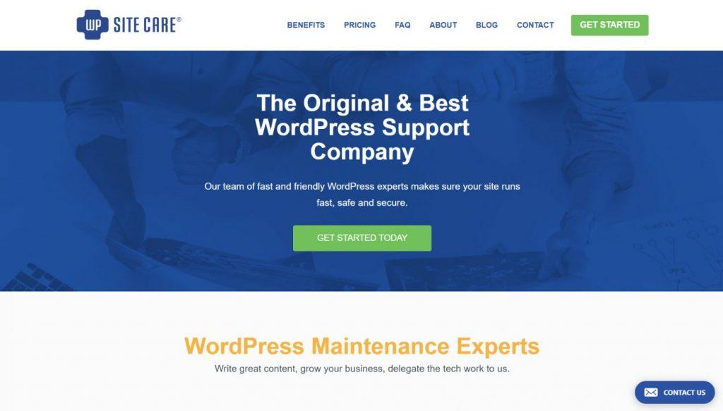 WP Site Care'in ana sayfası