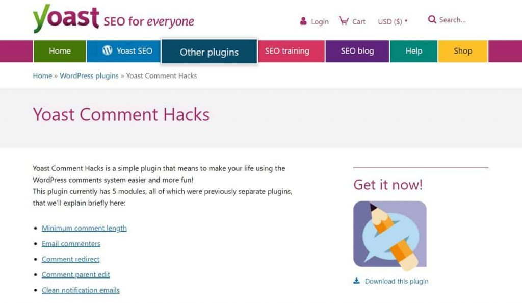 Yoast Comment Hacks WordPress yorum eklentisi