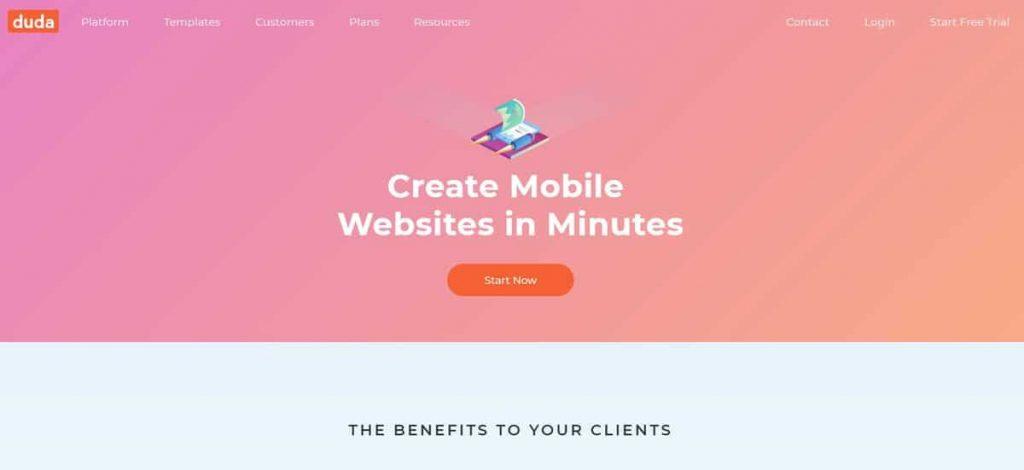 Duda Mobile online site çevirici