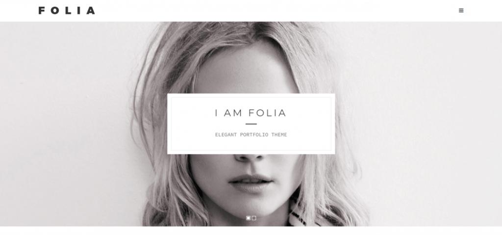 Folia WordPress teması