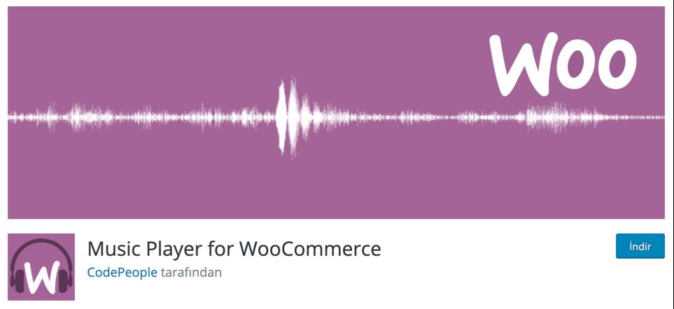 Music Player for WooCommerce WordPress eklentisi