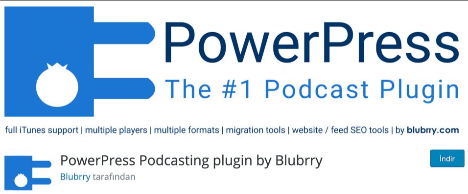 PowerPress Podcast WordPress eklentisi