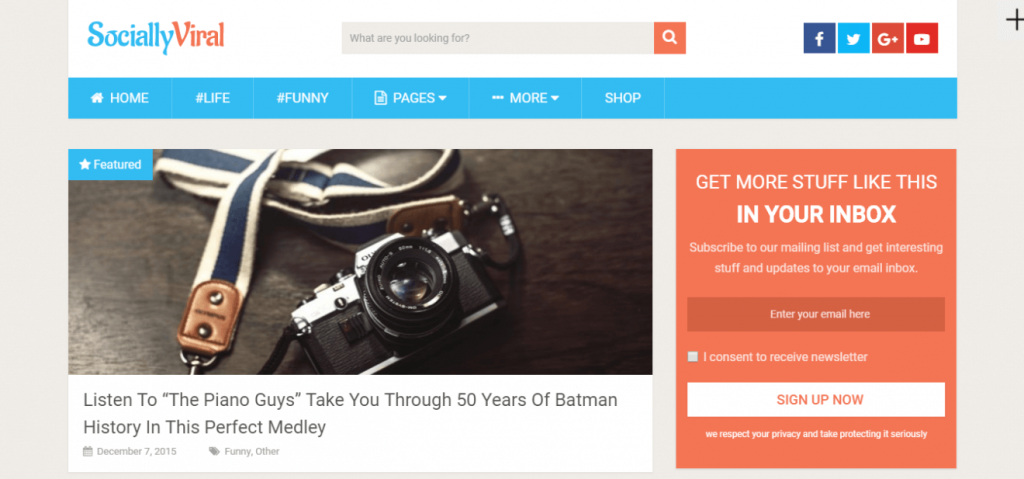 SociallyViral WordPress teması