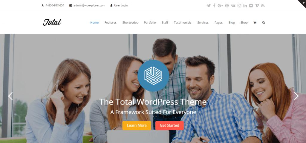 Total WordPress teması