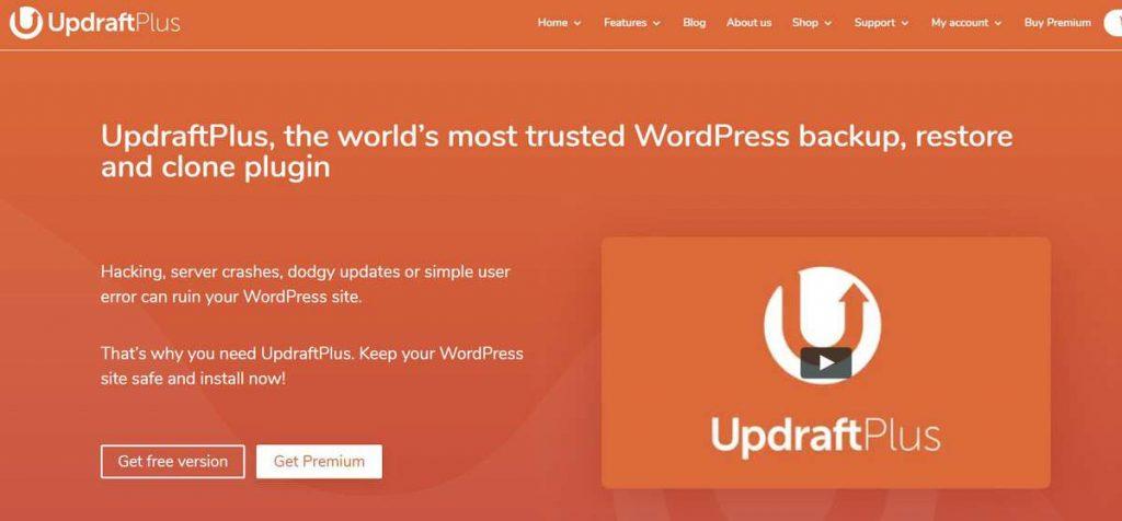 UdraftPlus WordPress site taşıma eklentisi