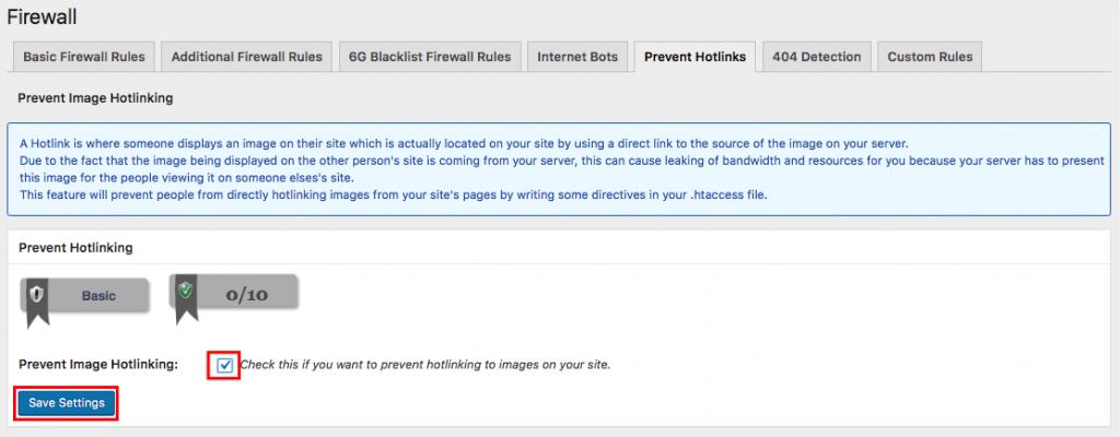 WordPress eklentisi kullanarak Hotlink koruması