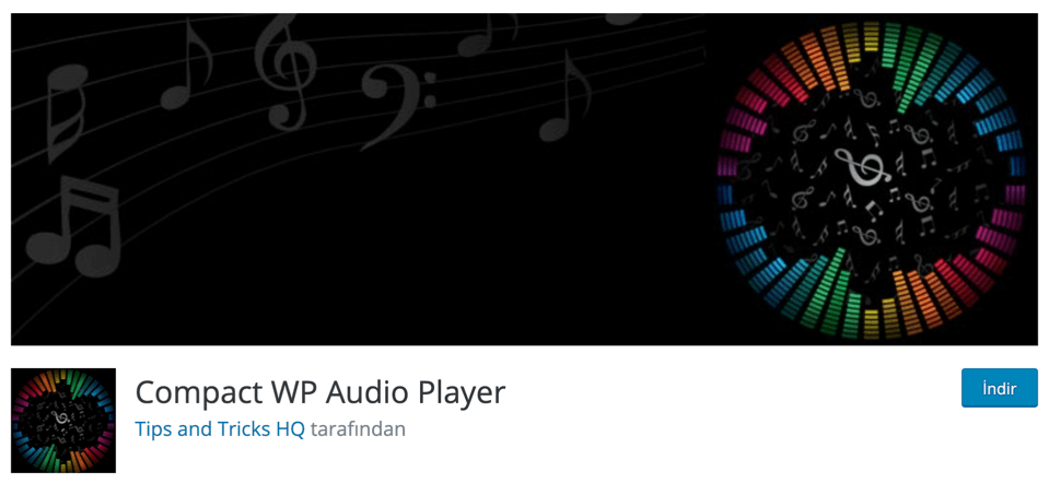 Compact WP Audio Player WordPress eklentisi
