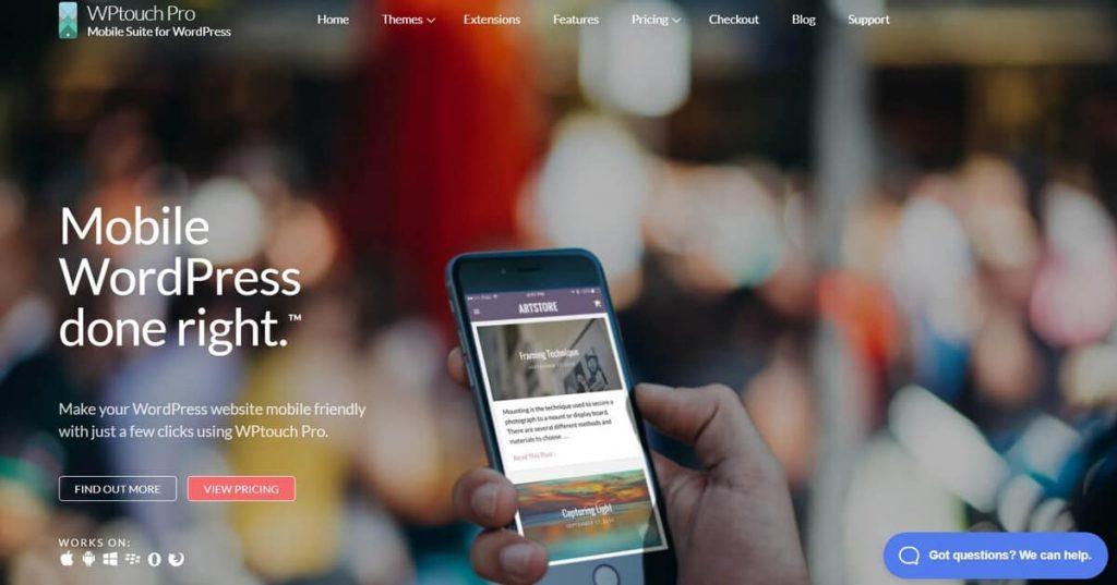 WPTouch Pro masaüstü sitenizi mobil dostu siteye çevirebilir