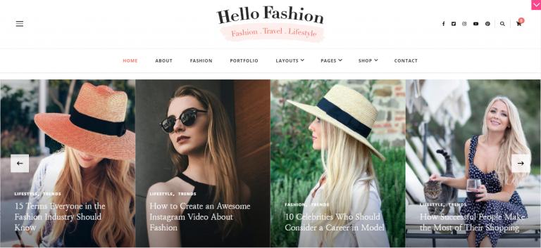 Hello Fashion WordPress Blog Temaları 3