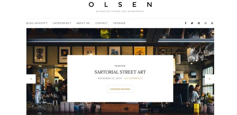 Olsen Light WordPress Teması