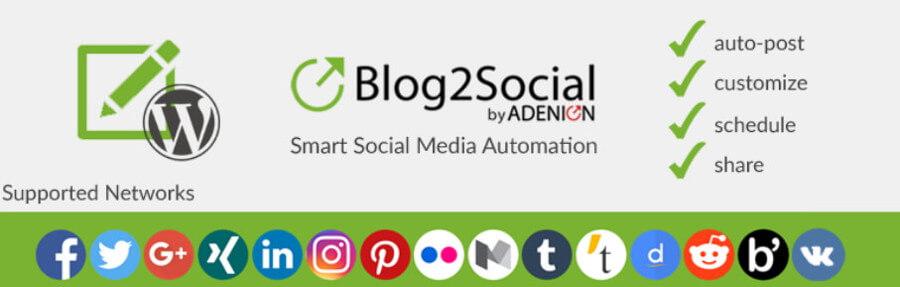Blog2Social eklentisi.