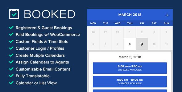 Booked WordPress rezervasyon eklentisi