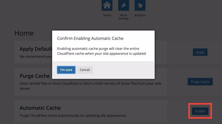 WordPress Automatic Cache'i etkinleştirmek