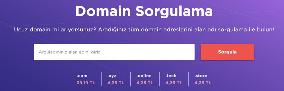 Domain kullanılabilirliğini kontrol etmek.