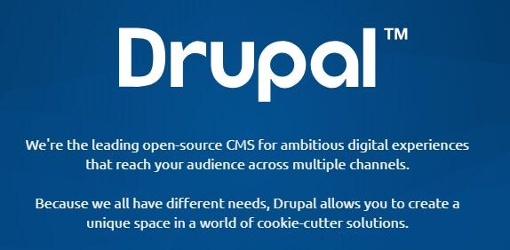 Drupal ana sayfası.