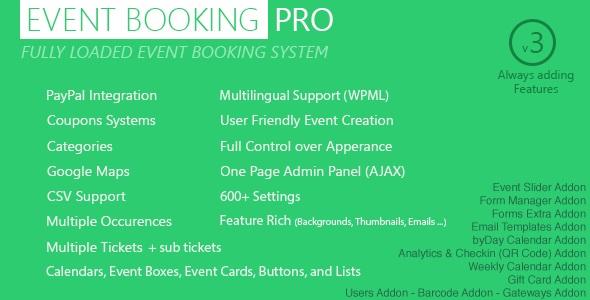 Event Booking Pro WordPress rezervasyon eklentisi