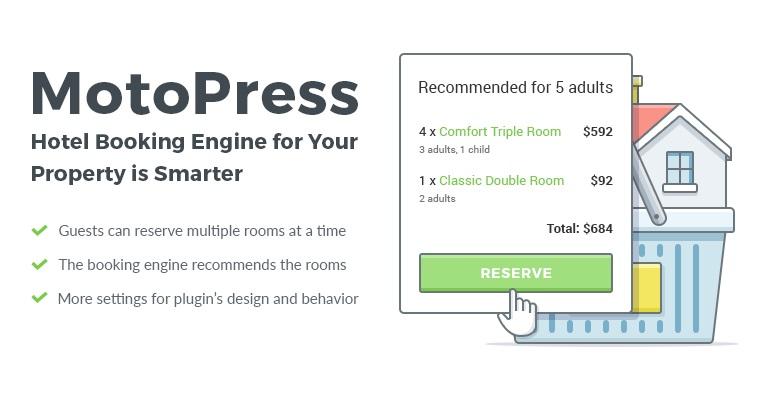 MotoPress Hotel Booking WordPress rezervasyon eklentisi