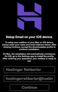 iPhone mail kurulumu yapmak için email bilgilerinizi girin